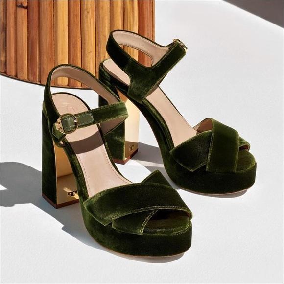 19a34343ef8722 Tory Burch Loretta Velvet Platform Sandal. M 5af4e1d9a825a645a26605ed